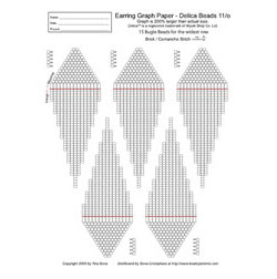 Graph Paper - Brick/Peyote/Comanche, Earring 15 Bugles wide (Del