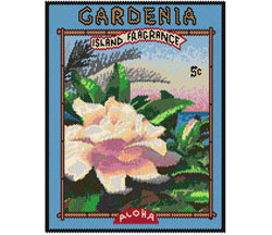 Gardenia Seed Packet Tapestry