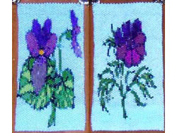 Violet and Cosmos Amulet Bag Pattern #233