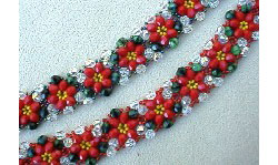 Christmas Crystal Bracelet with Jiffy Triangle Weave
