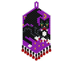 Dracula's Vampire Cat Earrings