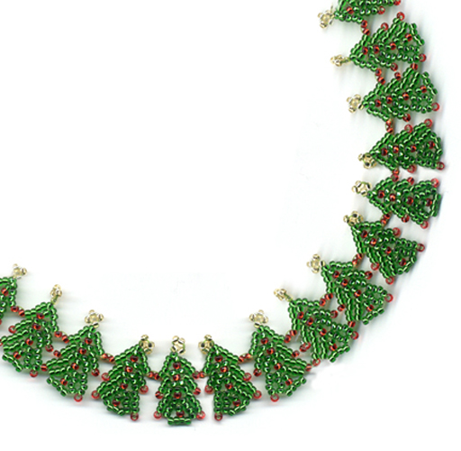 Christmas Tree Garland Necklace