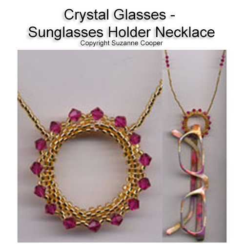 CRYSTAL GLASSES - SUNGLASSES HOLDER NECKLACE