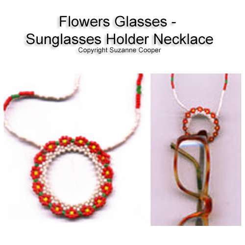 FLOWERS GLASSES - SUNGLASSES HOLDER NECKLACE