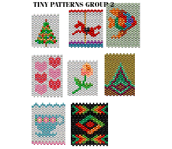 TINY PATTERNS - GROUP 2 - NECKLACES, AMULETS, DOLL PURSES