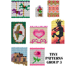 TINY PATTERNS - GROUP 3 - NECKLACES, AMULETS, DOLL PURSES