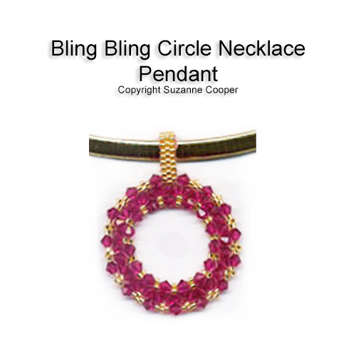 BLING BLING CIRCLE NECKLACE PENDANT