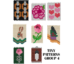 TINY PATTERNS - GROUP 4 - NECKLACES, AMULETS, DOLL PURSES