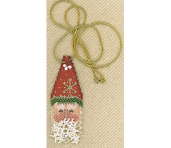 Tall Hat Santa Pendant