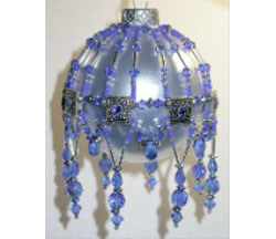 Crystal Slider & Seed Bead Ornament