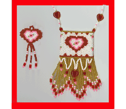 Valentine Pouch Earring Set