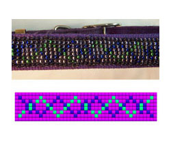 Purple Dog Collar #385