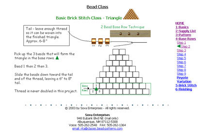 Basic Brick/Comanche Stitch - Triangle Instructions