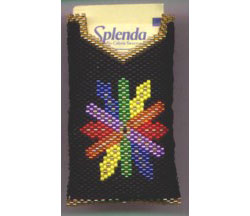 """Rainbow Feathers"" Splenda Pouch"