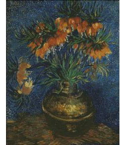 Fritallaries in Copper Vase