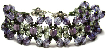 Amethyst and Crystal Bracelet