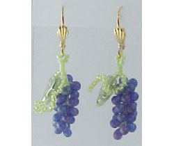 Grape Cluster Earrings