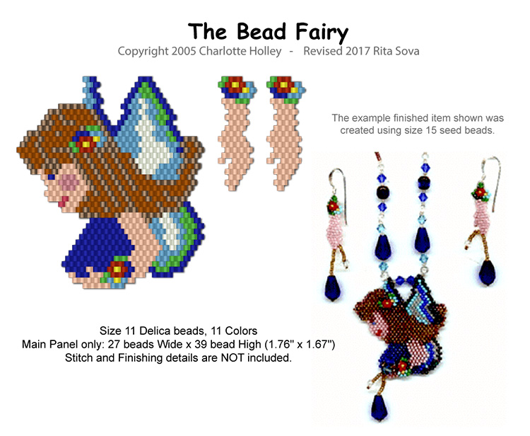 The Bead Fairy Pendant and Earrings