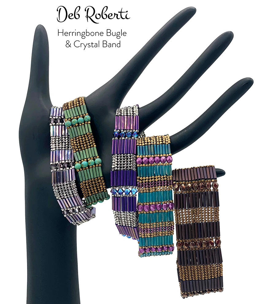 Herringbone Bugle & Crystal Band