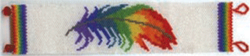 RAINBOW FEATHER BRACELET