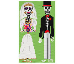 Los Novios The Newly Wed Dead Amulet Bag or Necklace Panel