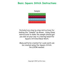 Basic Square Stitch Instructions
