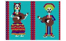 Dead Mariachi Mini Music Case 1 With Lanyard Pattern