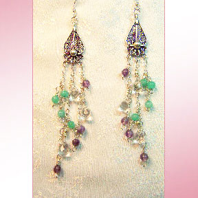 Multi-Stone Chandelier Earring #242
