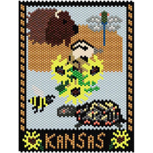 Kansas State Amulet/Mini Tapestry