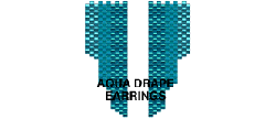 AQUA DRAPE EARRINGS