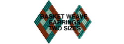 BASKET WEAVE EARRINGS - 2 SIZES