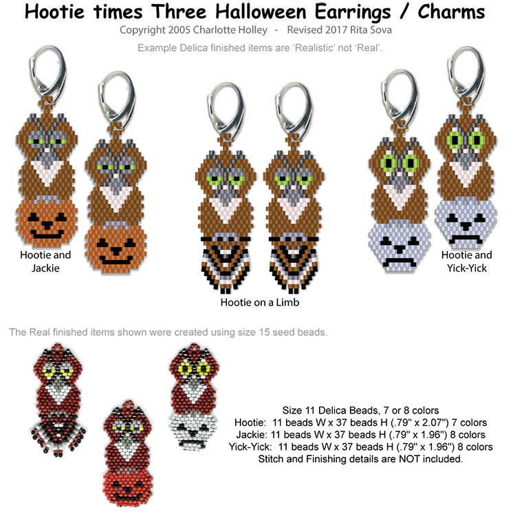 Hootie times Three Halloween Earrings