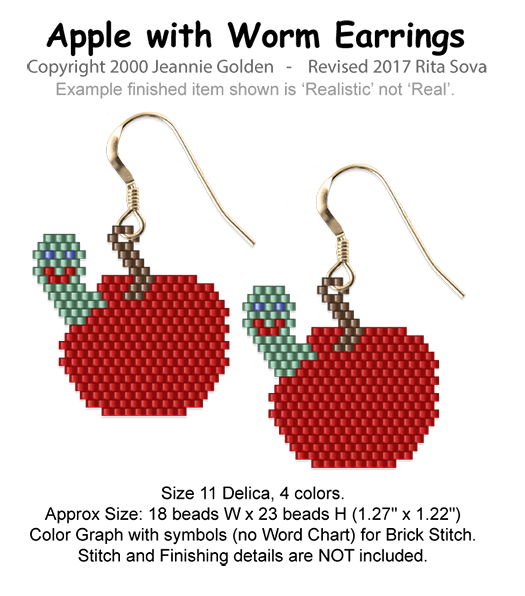Apple-Worm Earrings