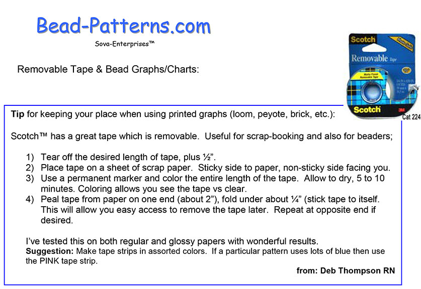 Removable Tape & Bead Graphs/Charts