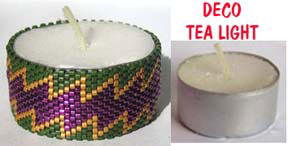 DECO BEADED TEA LIGHT COVER