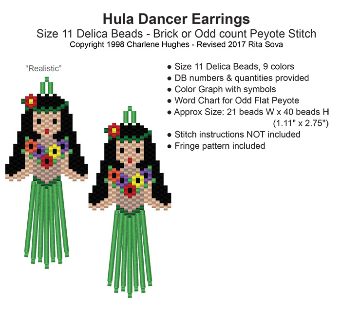 Hula Dancer Earrings