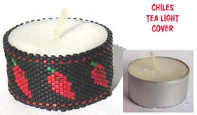 CHILES BEADED TEA LIGHT COVER