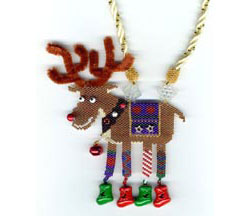 Rudolph The Leggy Reindeer Necklace