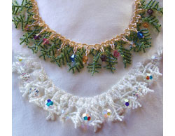 Crystal Christmas Tree Necklace