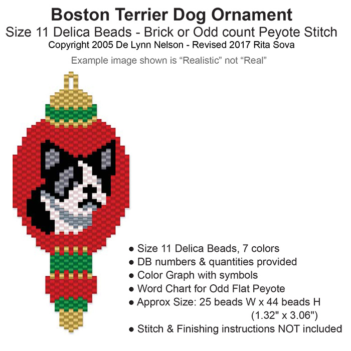 Boston Terrier Dog Ornament