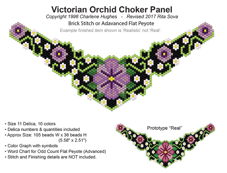 Victorian Orchid Choker Panel