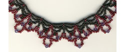 Winter Wine Lace Necklace
