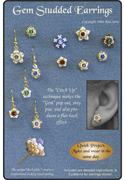 Gem Studded Earrings Booklet