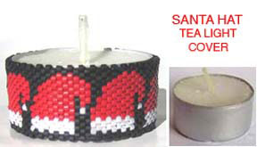SANTA HAT CHRISTMAS TEA LIGHT CANDLE COVER