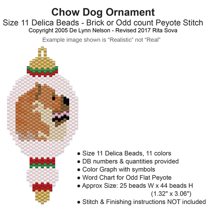 Chow Dog Ornament