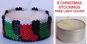 8 CHRISTMAS STOCKINGS TEA LIGHT CANDLE COVER