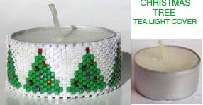 CHRISTMAS TREES TEA LIGHT CANDLE COVER