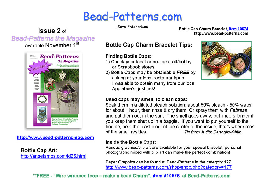 Bottle Cap Charm Bracelet Tips