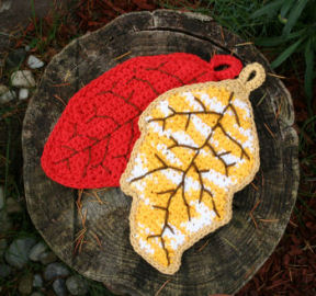 Falling Leaves Potholders