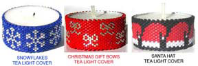 CHRISTMAS TEA LIGHT CANDLE COVERS - GROUP 1